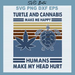 Turtle and cannabis svg