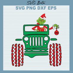 Grinch christmas jeep