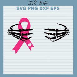 Breast Cancer Skeleton Hands