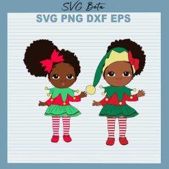 Black Girl elf christmas