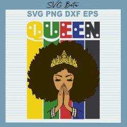 Black queen pray