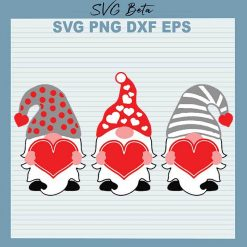 Gnome valentine with heart