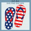 Flip flop American flag