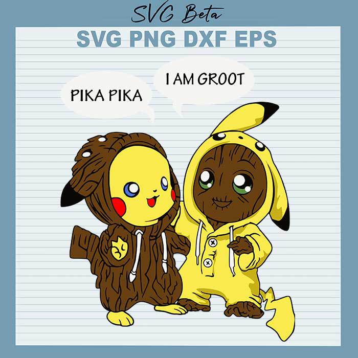 Baby Groot and Pika Friends