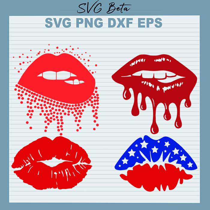 Dripping Red Lips Bundle