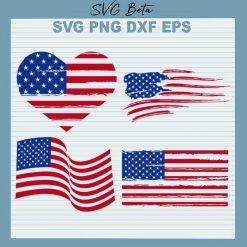 4th of July Distressed American Flag Bundle