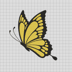 Bufterfly Embroidered design