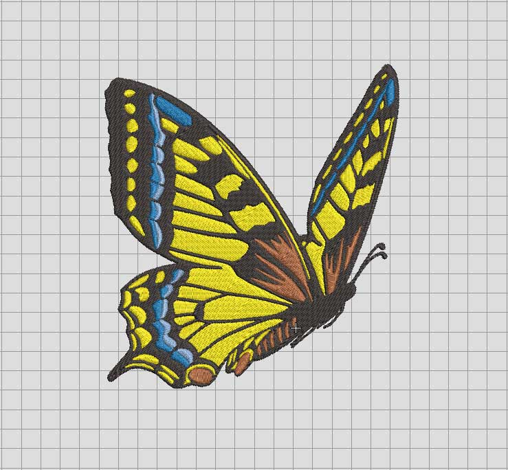 Bufterfly beauty Embroidered design