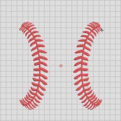 Baseball stitches Embroidery Design