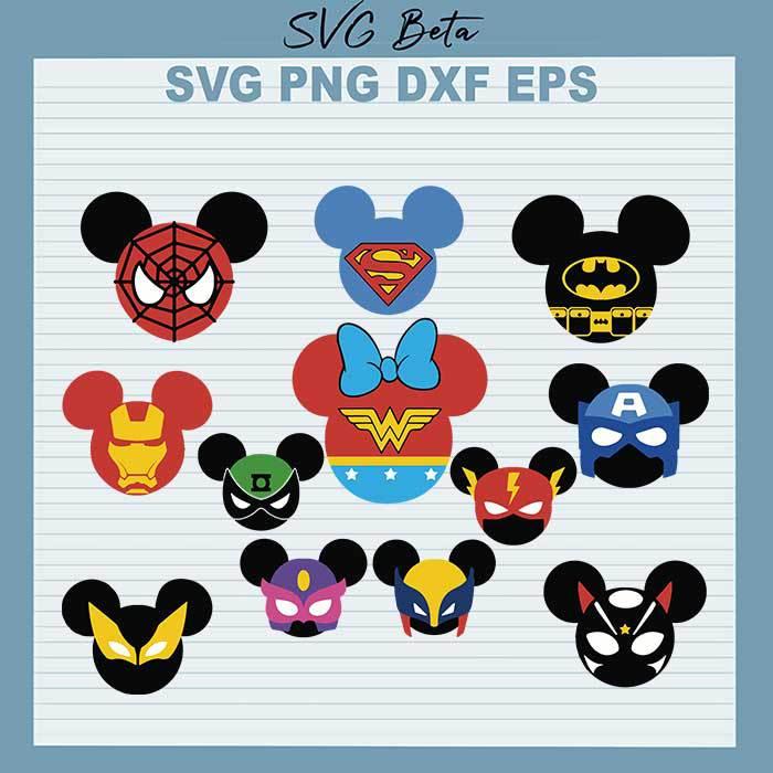 Superheroes Mickey Head Bundle