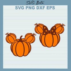 Pumpkin Mickey SVG
