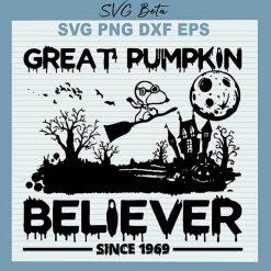 Snoopy Great Pumpkin Believe SVG