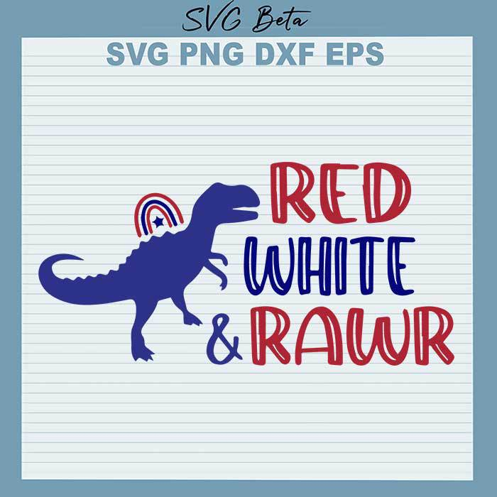 Dinosaur Red White and Rawr