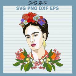 Frida Kahlo Flower Crown svg