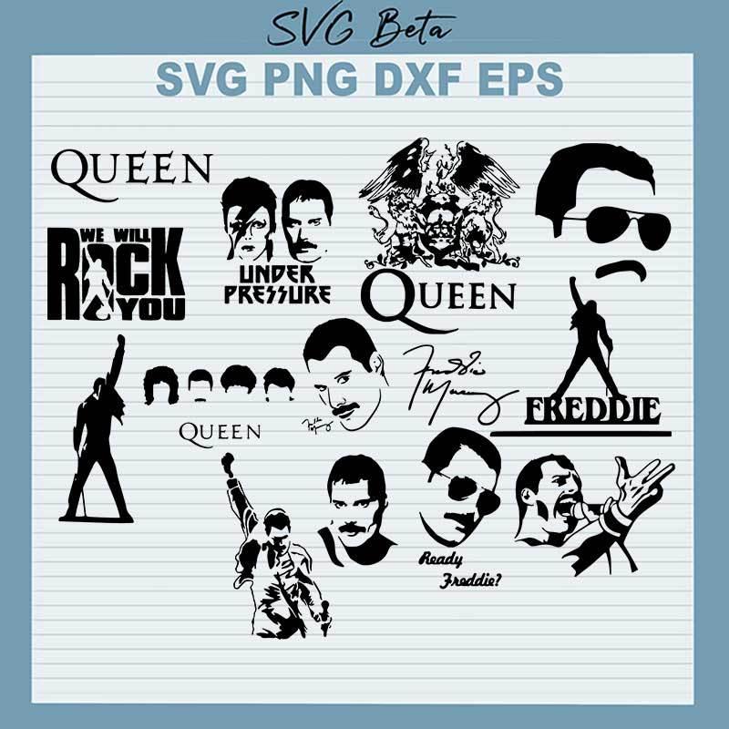 Queen Freddie Mercury SVG