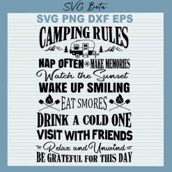 Camping Rules Summer SVG