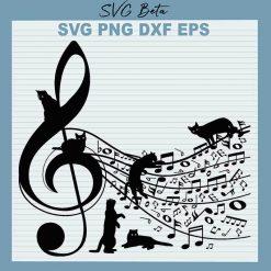 Cat playing music SVG