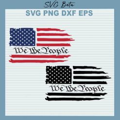 We The People American Flag SVG