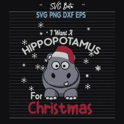 I Want A Hippotamus For Christmas SVG